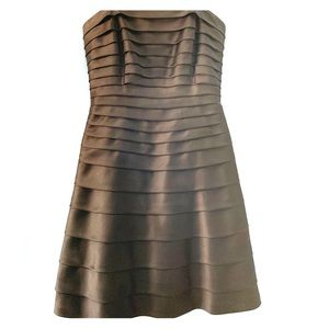 Cache Strapless Dress with Pleats